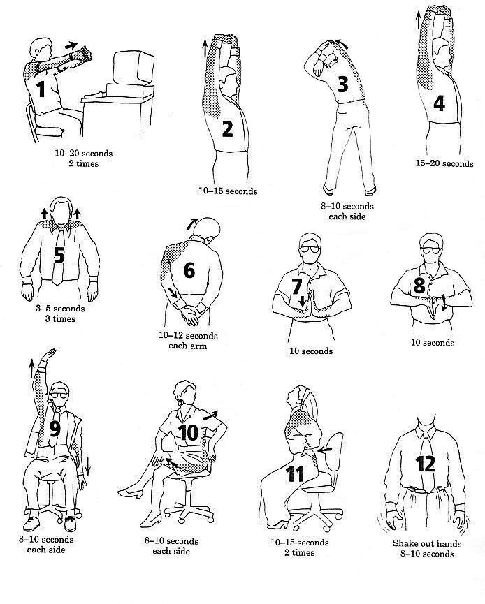 Simple exercises you can do at work